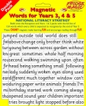 National Literacy Magnetic Words for Years 3, 4 & 5 DOUBLE PACK