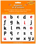 Magnetic a-z letters