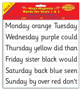 MEGA National Literacy Magnetic Words for Years 1&2 PACK 3 Key Stage 1