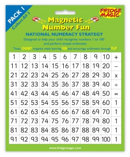 National Numeracy Magnetic Numbers 1 to 100 Key Stage 1