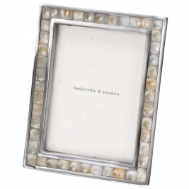 Mother of Pearl Mosaic Frame-7x5""