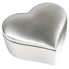 Fat Heart Large Aluminium Box-6x6x2.5""
